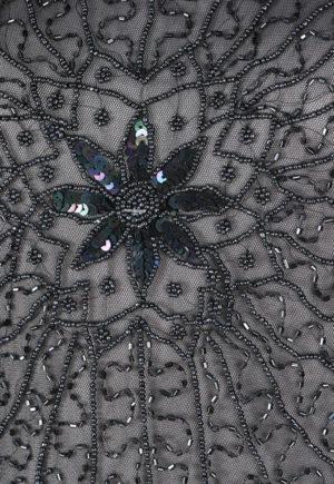Lena Black Flapper Cocktail Dress